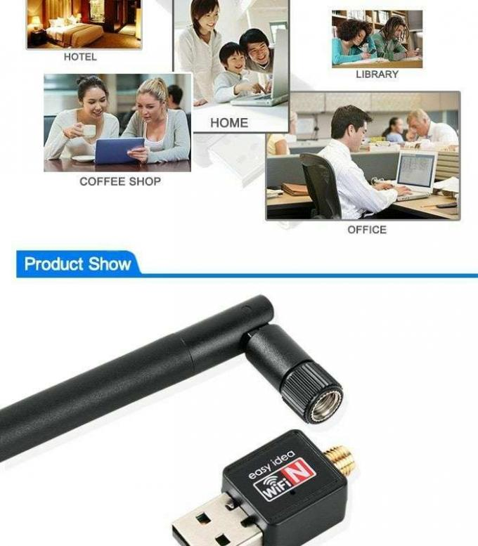 Mini USB Wifi Adapter Wireless Computer Network LAN Card Portable 150Mbps